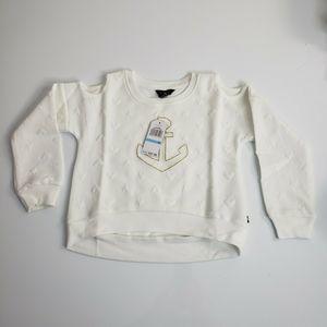Nautica Dresses - Nautica girls size 5 Anchor Cold-Shoulder Sweater